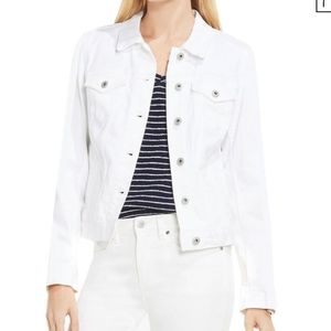 Two by Vince Camuto white denim jacket size S